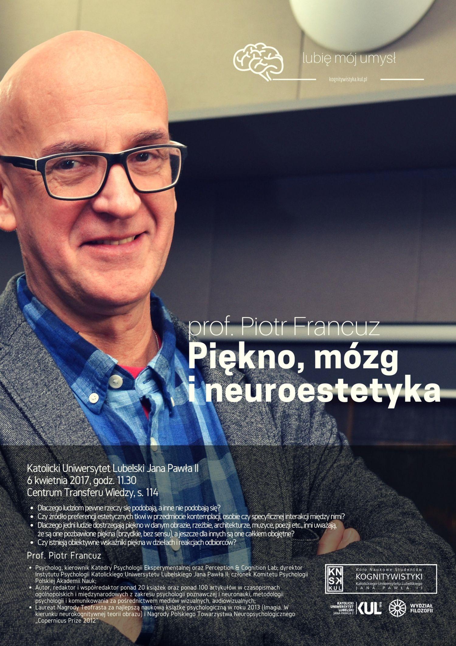 Piękno, mózg i neuroestetyka - Piotr Francuz