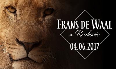 Błąd bystrości - Frans de Waal w Krakowie