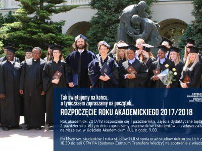 Początek roku akademickiego!