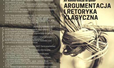 Argumentacja i retoryka klasyczna. ArgDiaP 2017