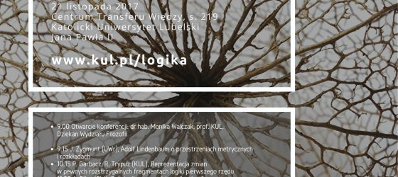 Logika a filozofia. IX Jesienna Konferencja Logiki. Program