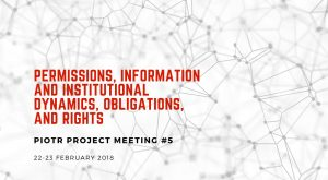 Permissions, Information and Institutional Dynamics, Obligations, and Rights. PIOTR Project Meeting #5 @ Katolicki Uniwersytet Lubelski Jana Pawła II | Lublin | lubelskie | Polska
