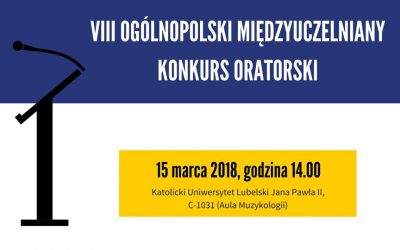 VIII Ogólnopolski Międzyuczelniany Konkurs Oratorski