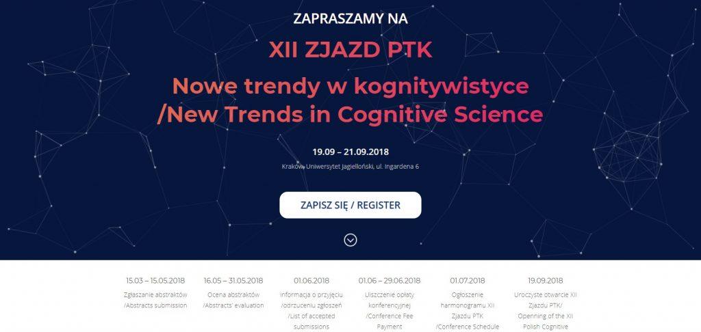 Nowe trendy w kognitywistyce. XII Zjazd Polskiego Towarzystwa Kognitywistycznego @ Kraków | małopolskie | Polska