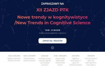 Nowe trendy w kognitywistyce. XII Zjazd Polskiego Towarzystwa Kognitywistycznego