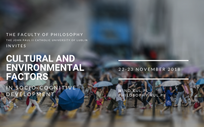 Cultural and environmental factors in socio-cognitive development. Call for Poster Presentations