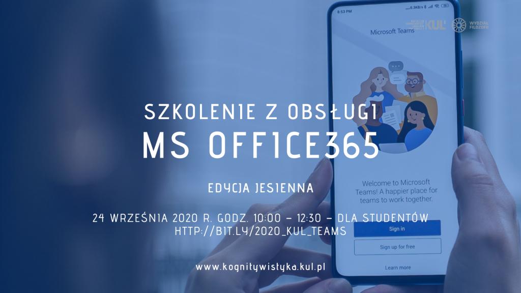 Szkolenie z obsługi MS Office365