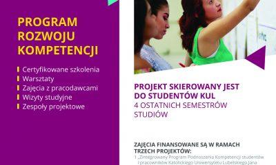 Bezpłatne szkolenia i staże dla studentów ostatnich lat studiów